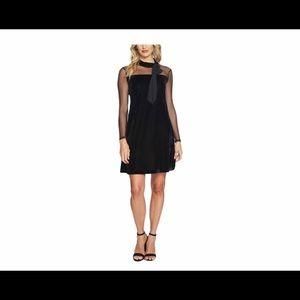 CeCe Womens Velvet Illusion Cocktail Dress Black